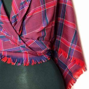 VTG Pendleton Triangle Shawl Poncho Scarf Wrap 100